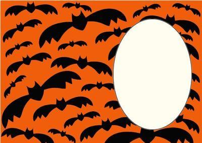 Halloween bats insert 2 on Craftsuprint designed by Sharon Poore - Halloween bats insert - Now available for download!