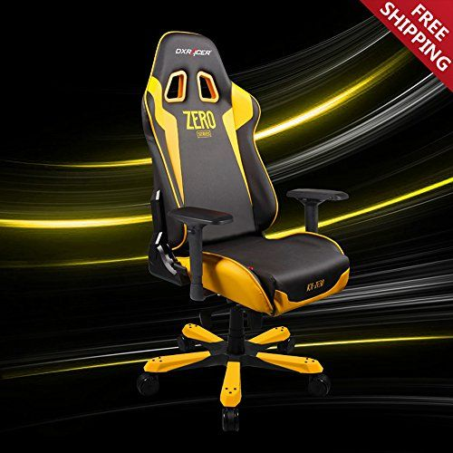 DX Racer KS00/NY/ZERO Racing Bucket Seat Office Chair Gaming Chair Ergonomic Computer Chair eSports Desk Chair Executive Chair Furniture with Free Cushions (Black/Yellow)  http://www.furnituressale.com/dx-racer-ks00nyzero-racing-bucket-seat-office-chair-gaming-chair-ergonomic-computer-chair-esports-desk-chair-executive-chair-furniture-with-free-cushions-blackyellow/