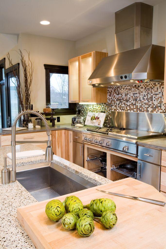Contemporary Kitchen Stainless Steel Appliances Interior Design Designer Kristin Okeley ASID