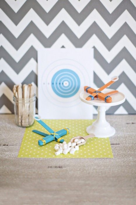 My boys would LOVE to make this marshmallow catapult (you could also use pompoms.  This is going to have to be top of our list when we are home bound with our  new arrival this summer.