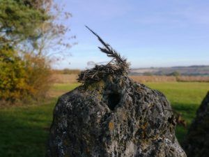 Cotswold Walks: Halloween hat for a Rollright Stone