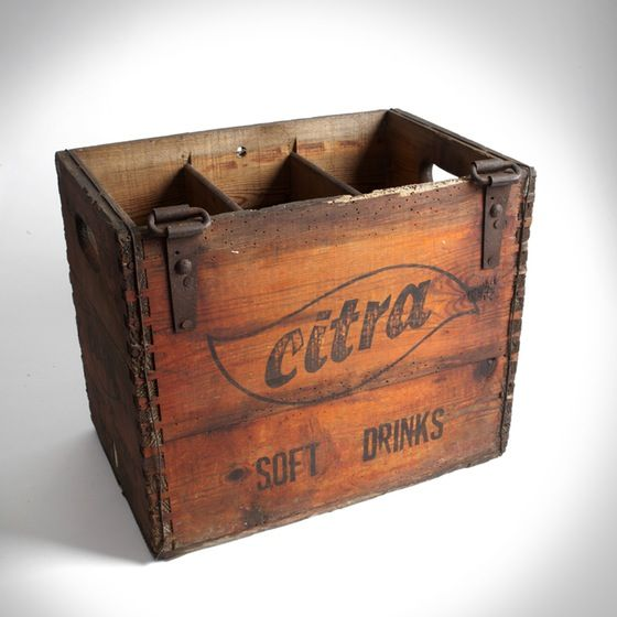 NEW | Citra Soft Drinks Wooden Crate | Vintage | raspberrymash.co.uk | Warehouse Home Design Magazine
