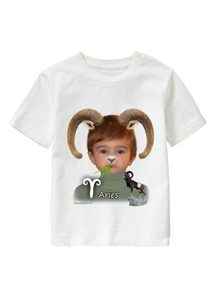 Aries Boy personalized T-shirt www.ghigostyle.com