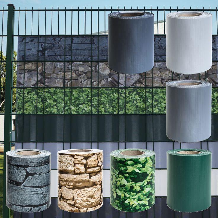 Details zu Sichtschutz PVC Doppelstabmatten Zaunfolie
