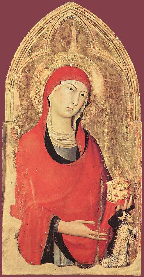 Орвието Полиптих (подробно). 1321 Дерево, темпера. Museo dell'Opera дель Дуомо, Орвието