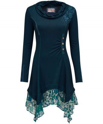 """Casual and cute with a quirky twist. We've styled it out with this beautiful tunic, adding taping, stitching, lace details and a chiffon hem. This is the essence of Joe Browns. Approx Length: 98cm (at longest point) Our model is: 5'8"""""""