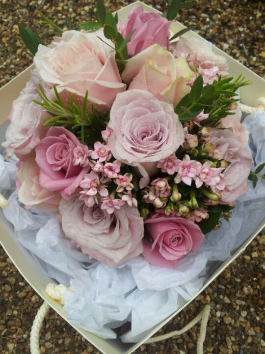Faith,  sweet avalanche and Keano Roses with Bouvardia. Bridal bouquet posy