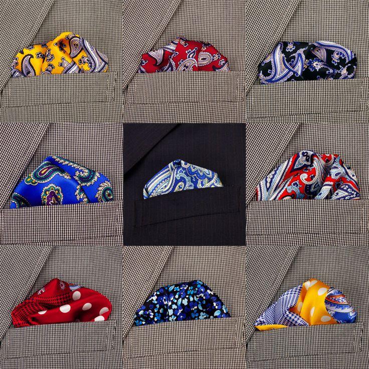 2017 New Arrival Mens Suit Paisley Handkerchief Men's 100% Silk Handkerchiefs Pocket Square Hanky Men Cloth Accessories
