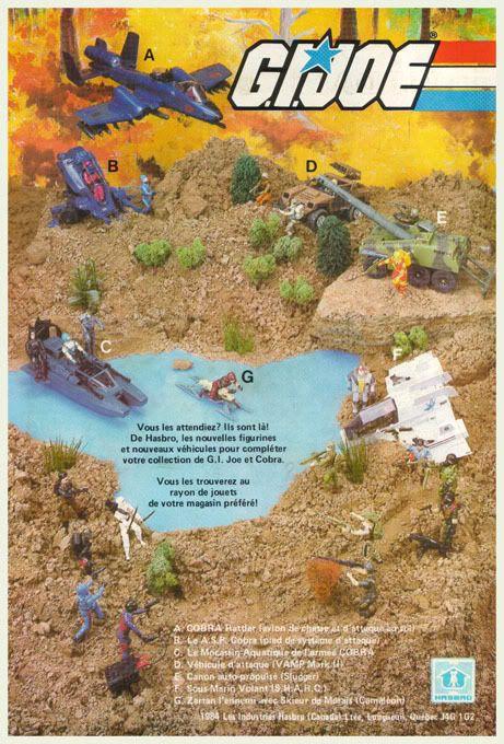 Les Sketcheurs Cosmiques: G.I.Joe - Pub Canadienne-Française, 1984