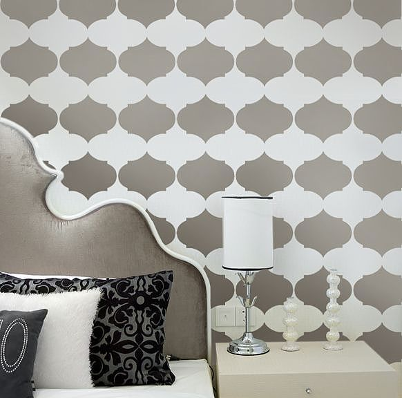 stencilsDining Room, Wall Pattern, Wall Decor, Cutting Edge Stencils, Stencils Pattern, Cut Edging Stencils, Bedrooms Wall, Modern Design, Accent Wall