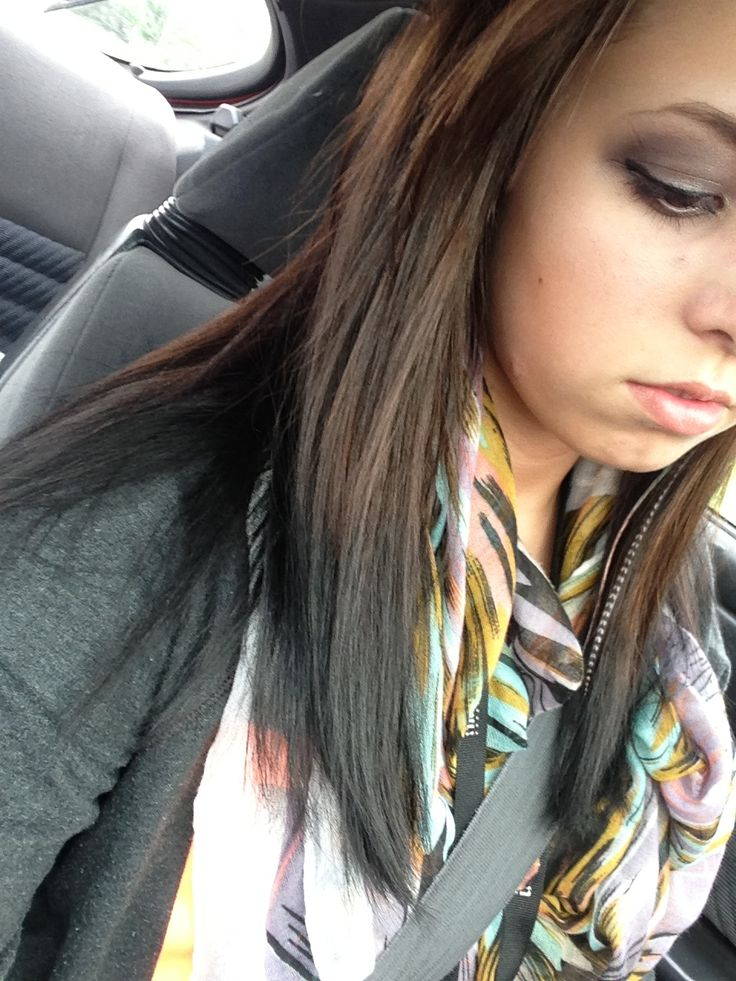 Reverse Ombre Brown To Black Hair Flip Dyed Hair