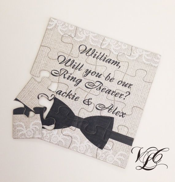 Rustic Personalized Ring Bearer proposal Ask by VintageChicLace