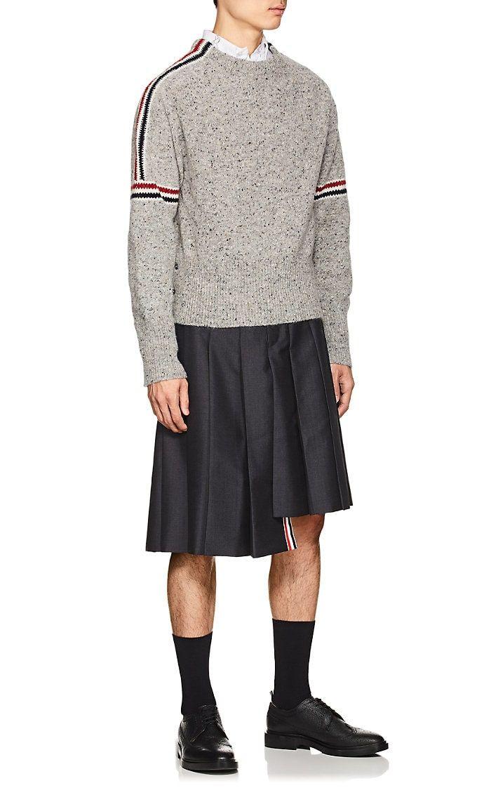 f08cdaa5289 Thom Browne Pleated Wool-Mohair Skirt
