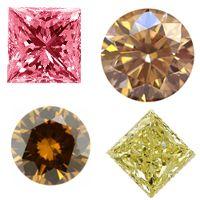 Farbige Diamanten, wie z.B. gelbe Diamanten, grüne Diamanten, pink Diamanten und cognacfarbene Diamanten zum günstigen Preis von www.juwelierhausabt.de
