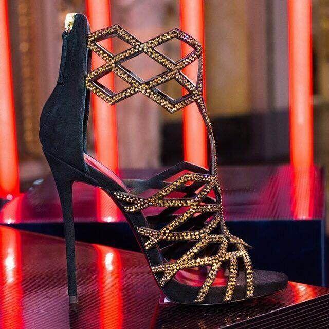(98.00$)  Buy here - http://aid74.worlditems.win/all/product.php?id=32798689935 - donne gladiatore tacchi alti scarpe del sandalo in pelle scamosciata sandali delle donne sexy delle signore di Cristallo 12cm