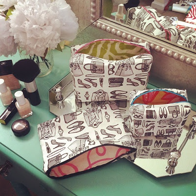 Lis Sartori's ADORABLE new tres chic line of makeup bags
