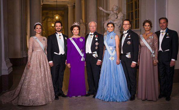 Swedish Royal Family Attended 2017 Nobel Prize Ceremony Princess Victoria Of Sweden Princess Sofia Of Sweden Royal Dresses