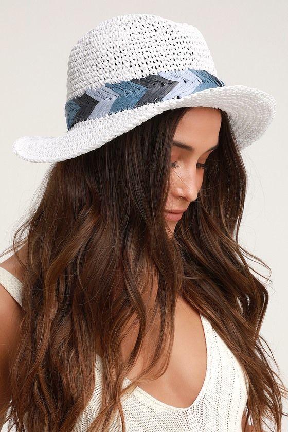 e20709c7 Lulus   Playa del Rey White Woven Straw Fedora Hat in 2019 ...