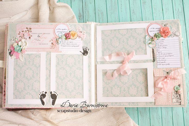 Волшебство на кончиках пальцев: Мятно-розовый нежный альбом для малышки