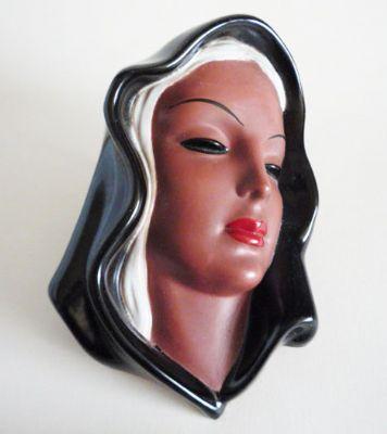 Goldscheider 'Madonna' Terracotta Wall Mask no.7831 c1950