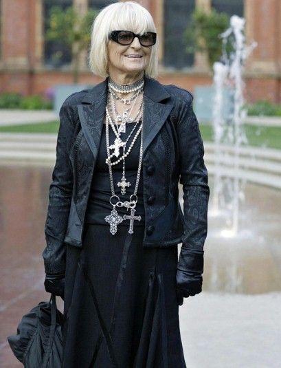 Charming mature goth women of fashion