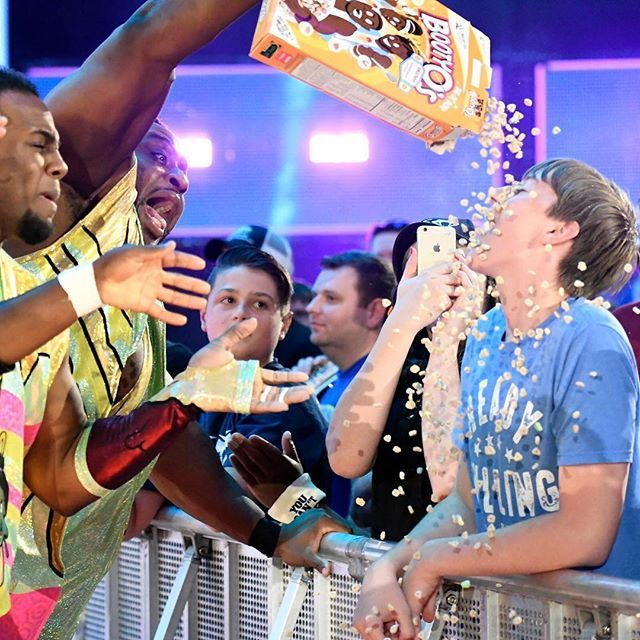 wwe @wwebige is just making sure this member of the #WWE Universe ain't BOOTY! 2017/07/22 02:47:01
