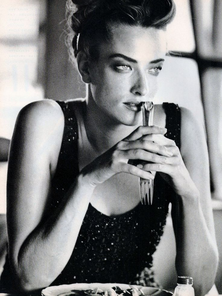 Tatjana Patitz | Photography by Peter Lindbergh | For Vogue Magazine Italy | October 1990