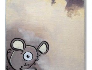 Mousie 6x6 Original Painting. Perfect for Baby's room!