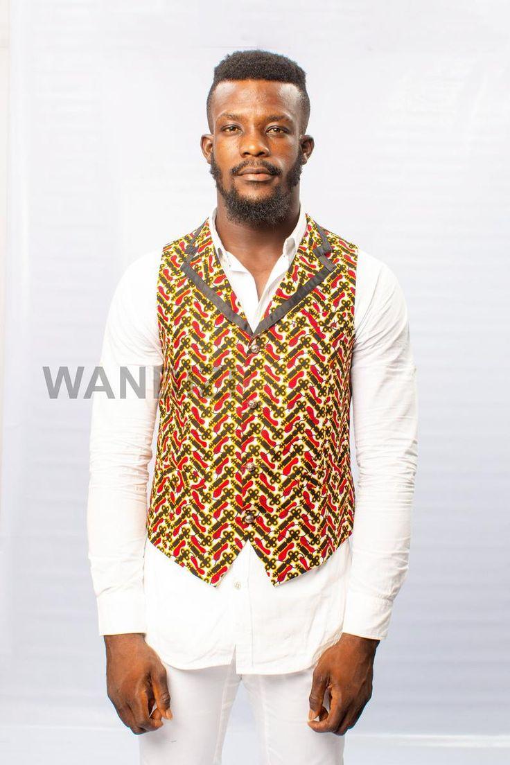 Ankara waist coatvest ankara vest african clothing for
