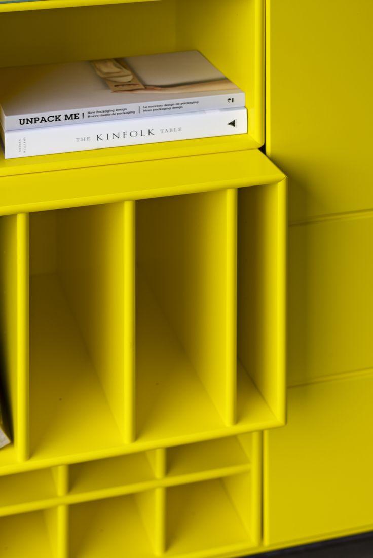 Montana in Tokyo Yellow – bright and cheerful. #montana #furniture #yellow #inspiration #danish #design #storage #shelving #interior