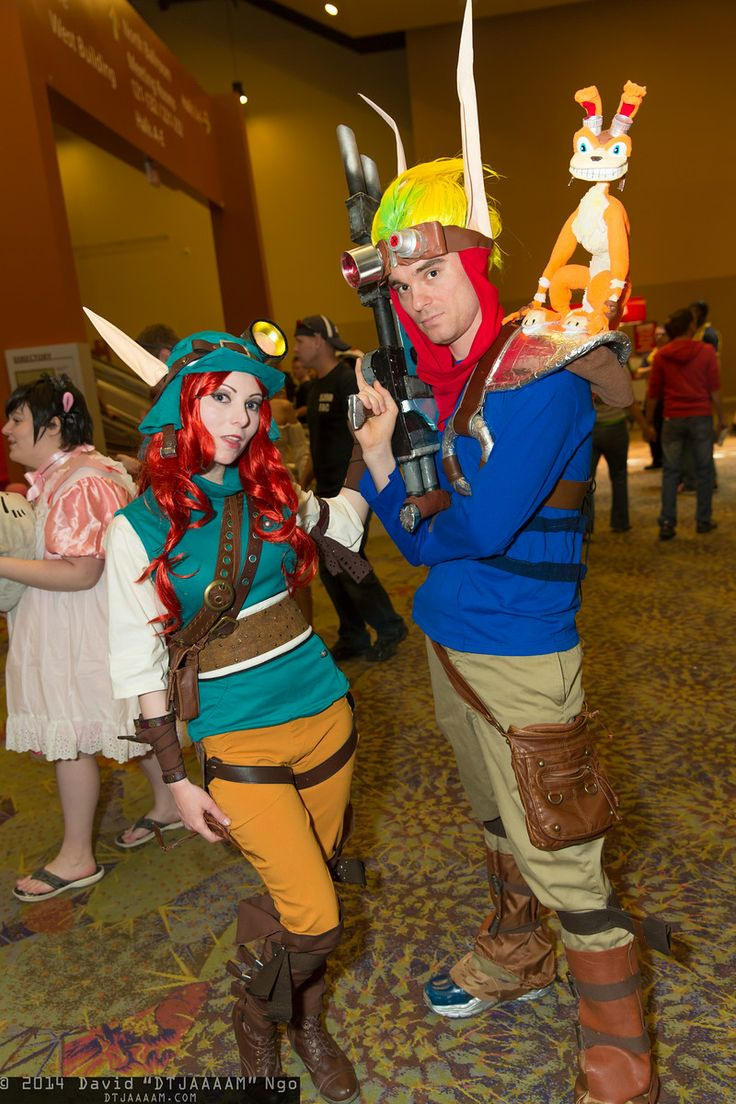 Geologist, Jak, and Daxter - Phoenix Comicon 2014