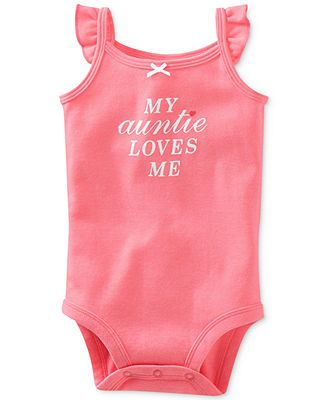 Carter's Baby Girls' My Auntie Loves Me Bodysuit