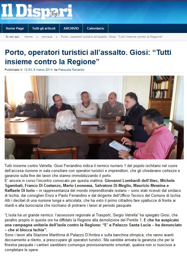 #IlDispari quotidiano - #Ischia questione Porto