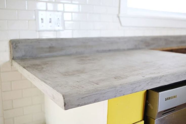 Covering Old Laminate Countertops With A Layer Of Cement