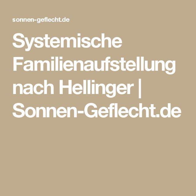 Systemische Familienaufstellung nach Hellinger | Sonnen-Geflecht.de