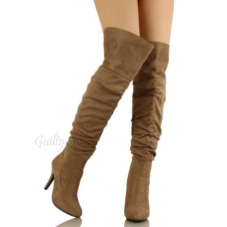 Women's Spikes Pull-On Retro Wedges Over The Knee Boots