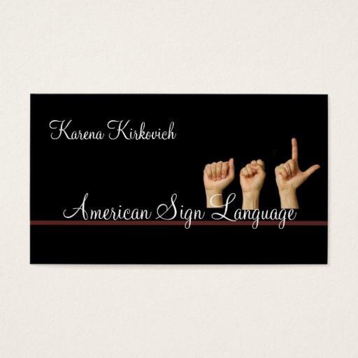 207 best translator business cards images on pinterest business asl sign language translator business card colourmoves