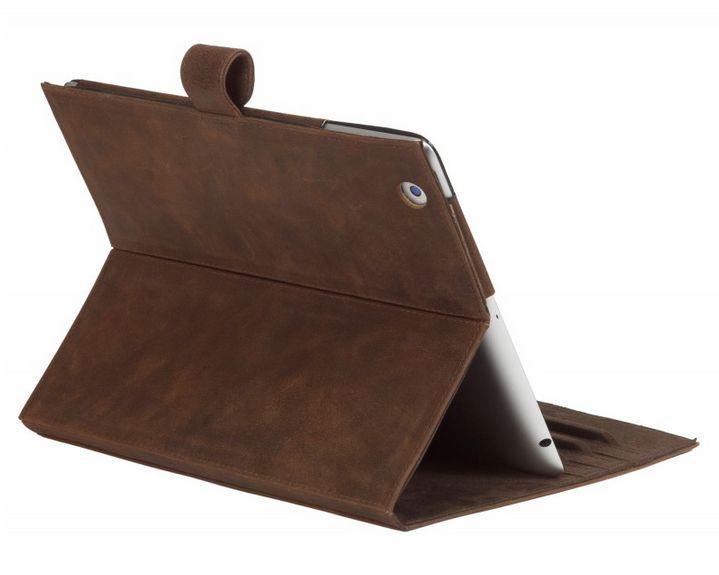 Hunter brown, classic leather folio case for iPad & iPad mini. Price: $70-80. More information: www.dbramante1928.com.