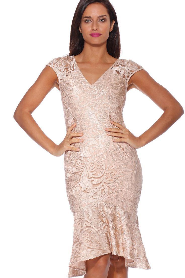 Pink Ruby - Lovelace Flip Dress Gold - Pd174207