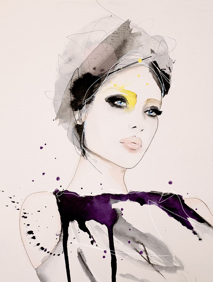 Intent – Fashion Illustration Art Print