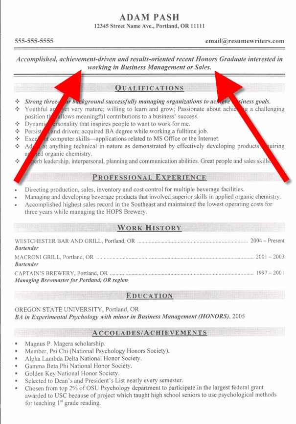 Examples Of A Good Objective For A Resume. Examples Of A Resume