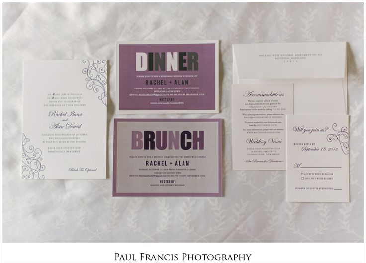 Eagle Oaks Country Club, Farmingdale NJ Wedding Photographer {Rachel and Alan}  purple and white- wedding invitations