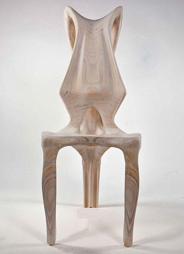 organic furniture design. exocarp chair guillermo bernal design biomimetic organic furniture y