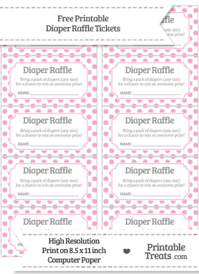 photo relating to Free Printable Baby Shower Diaper Raffle Tickets called 10 Cost-free Printable Diaper Raffle Tickets Printables
