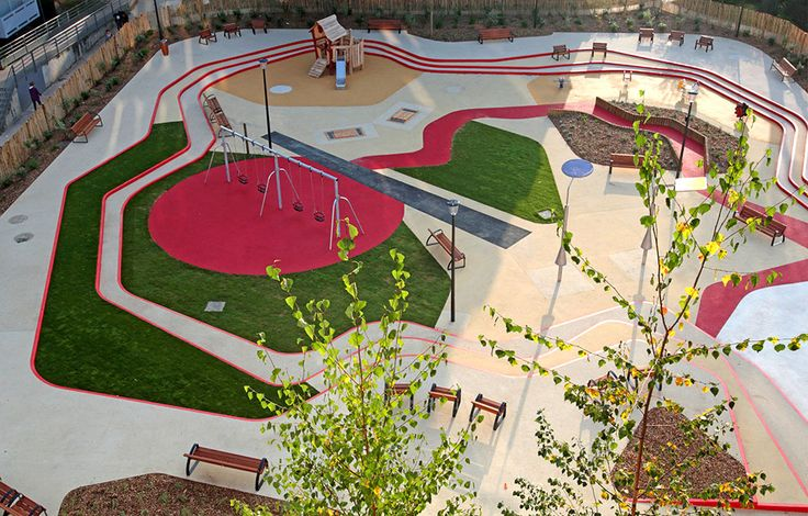 A toddler 39 s playground in alfordville france by espace for Aquatic sport center jardin balbuena
