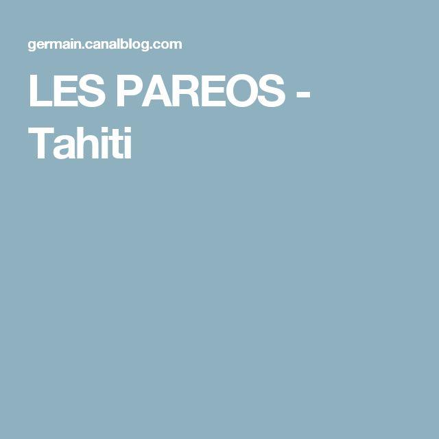 LES PAREOS - Tahiti