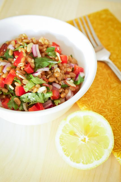 ... chopped chicken salad wheatberry salad with grilled tofu see more