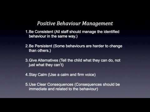 Positive Behaviour Management in the Classroom for Children with Autism