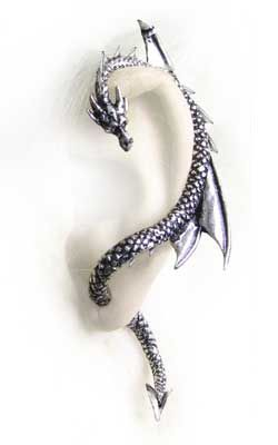 Genuine Alchemy Gothic Earring The Dragon S Lure Ear Wrap Left Only Single Like A Whispering Shoulder Devil Or Witch Familiar This