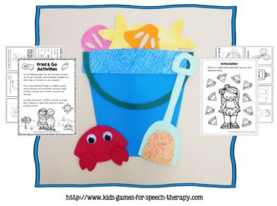 Summer Craftivity Speech Therapy Activities